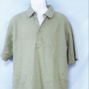 Olive Green Cotton Polo By Tehama